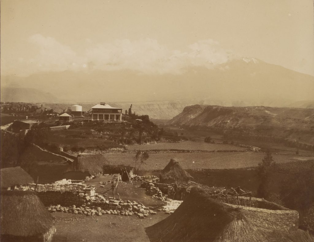 [View of Arequipa Station of Harvard College Observatory with mountains in background] B