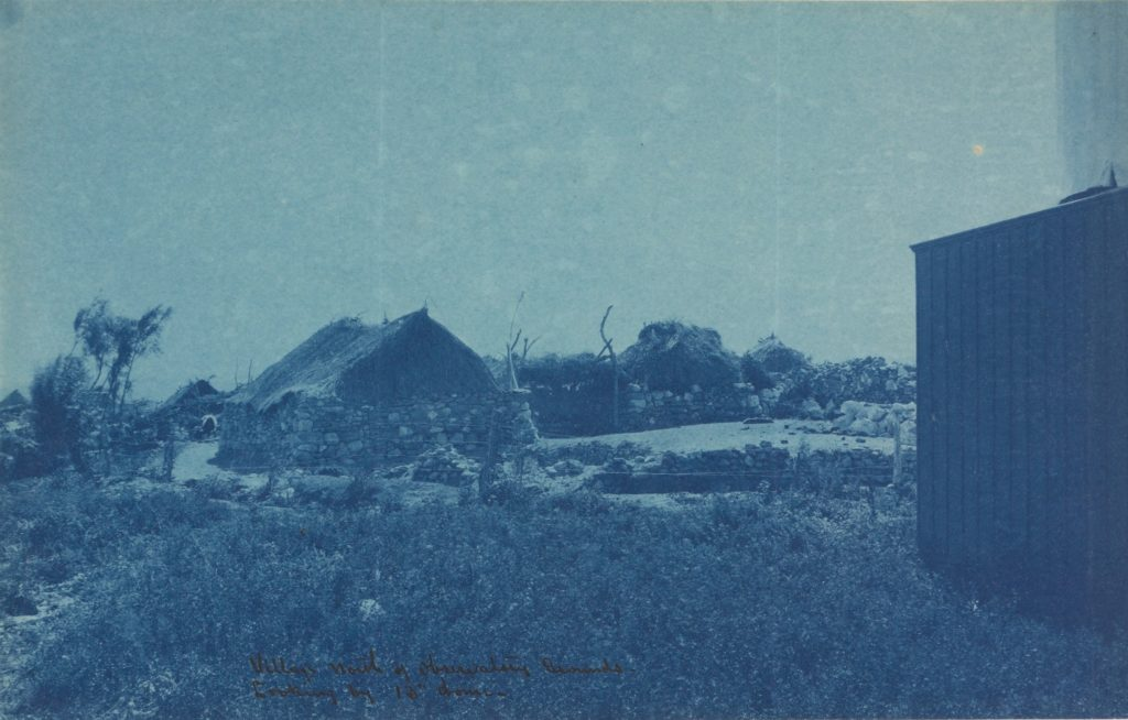 View of the village before wall construction.