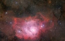 image of the lagoon nebula