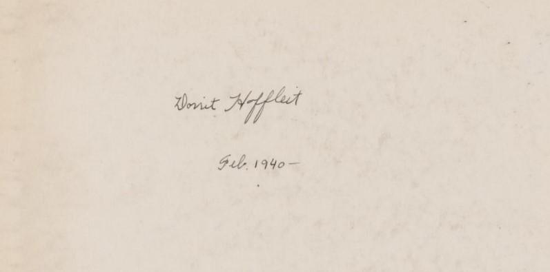 signature of Dorrit Hoffleit from a notebook