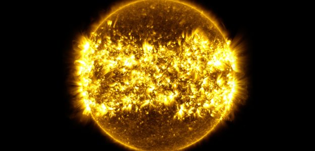 Image of the solar activity from NASA's time lapse video