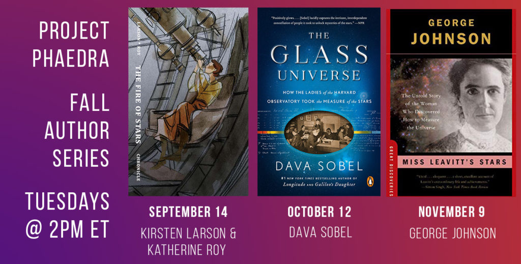 promotional poster for Phaedra Office Hours featuring 3 book covers